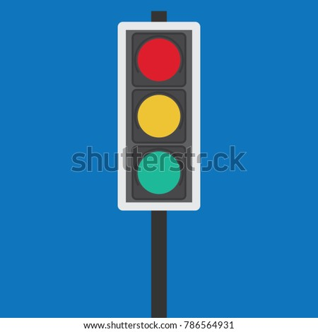 Traffic signal symbol sign. stop ahead signs traffic light ahead  warning vector illustration