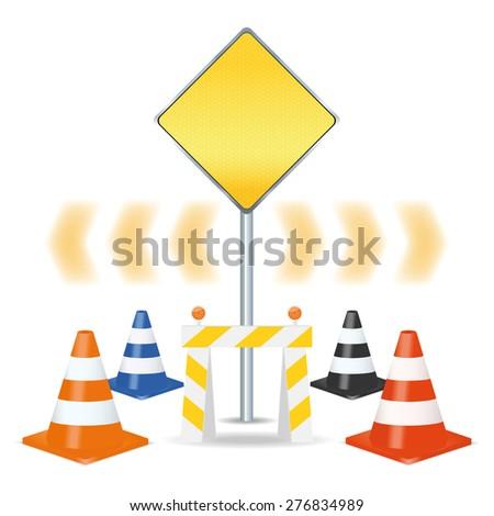 Traffic signs set. Vector illustration - stock vector