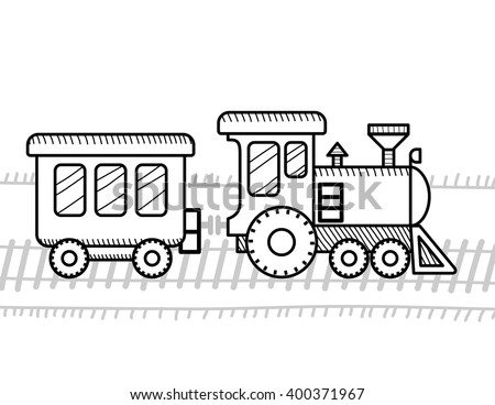 Train Coloring Book Kids Stock Vector HD (Royalty Free) 400371967 ...