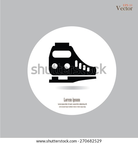 Train icon.train.vector illustration.     - stock vector