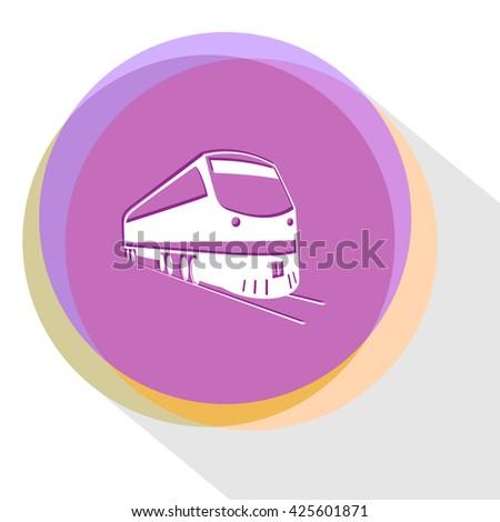 train. Internet template. Vector icon. - stock vector