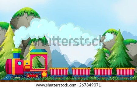 Train ride at daytime by the mountains