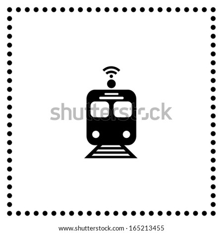 train symbol on white background  - stock vector