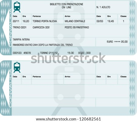 train ticket - stock vector