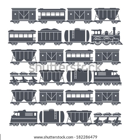 Train, vector illustration - stock vector