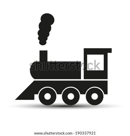 Train vector sign - stock vector