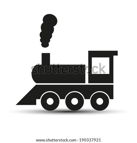 Train vector sign - stock vector