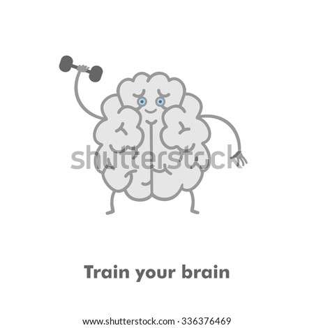 Train your brain picture - stock vector