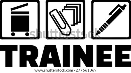 Trainee Intern - stock vector