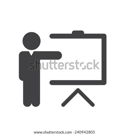 Training icon - stock vector