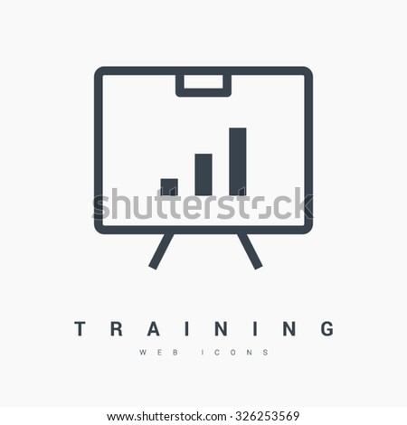 training isolated minimal single flat linear icon in black and white colors. Line vector icon for websites and mobile minimalistic flat design. Modern trend concept design style illustration symbol - stock vector