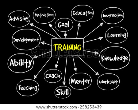 Training mind map, business concept - stock vector