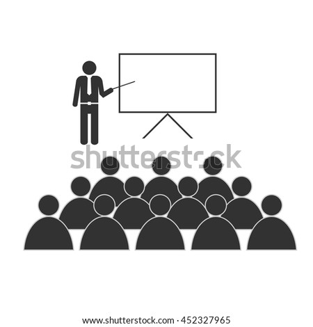 training with people icon illustration on white background