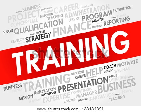 TRAINING word cloud, business concept - stock vector