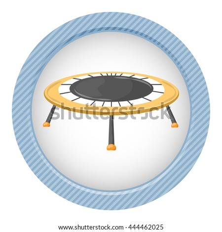 Trampoline icon. Vector illustration in cartoon style