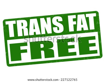 Trans fat free grunge rubber stamp on white background, vector illustration - stock vector