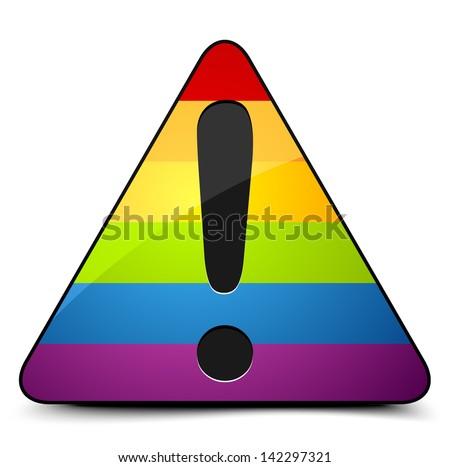 Transgender Danger Sign - stock vector