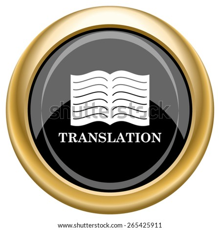 Translation book icon. Internet button on white  background. EPS10 Vector.  - stock vector