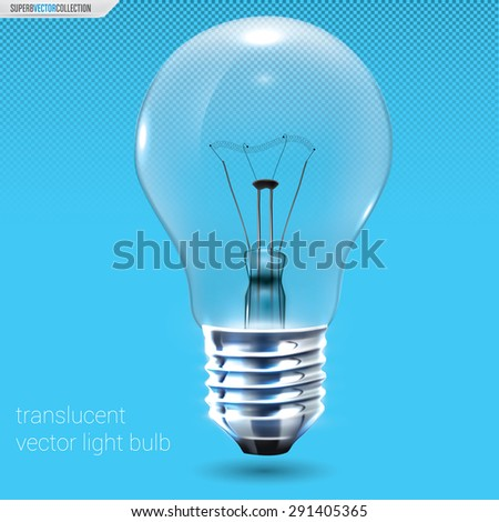 Translucent vector light bulb