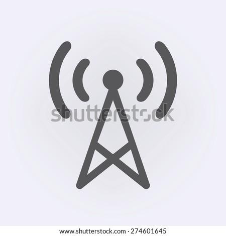Transmitter icon - stock vector