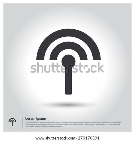transmitter icon Antenna icon radio tower broadcast icon Vector illustration for web site, mobile application. Simple flat metro design style. Outline Icon. Flat design style - stock vector
