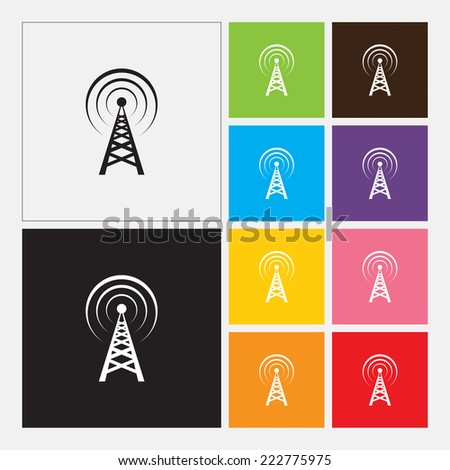 Transmitter icon - Vector - stock vector