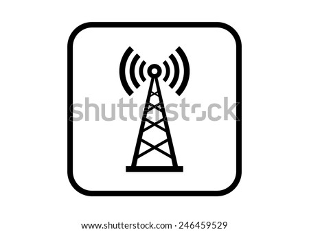 Transmitter vector icon on white background - stock vector