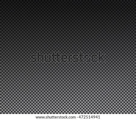 Transparency grid texture vector pattern with black and white gradient. Checkered background. Vector illustration