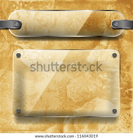 transparency plates on the ceramic background - stock vector