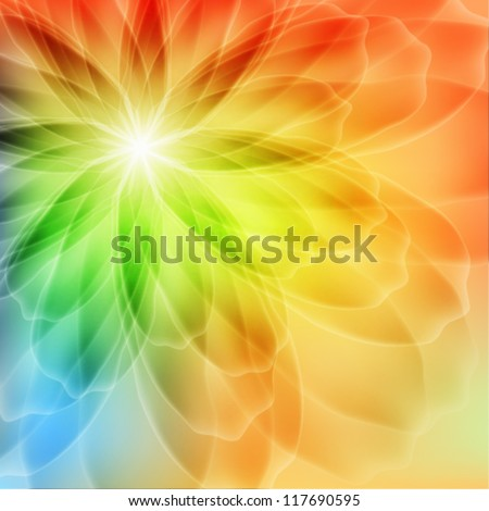 Transparent background with a flower - stock vector