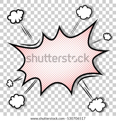 Transparent Background Boom Comic Book Explosion Stock Vector 530706517