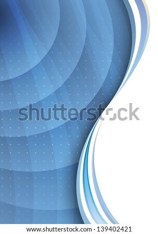 Transparent background with waves. Vector illustration - stock vector