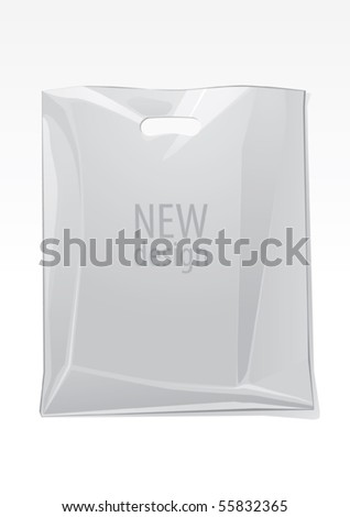 Transparent bag, vector