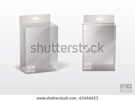 Transparent  blank box for your design, eps10 vector - stock vector