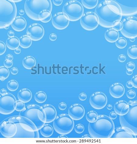 transparent bubbles 10eps - stock vector
