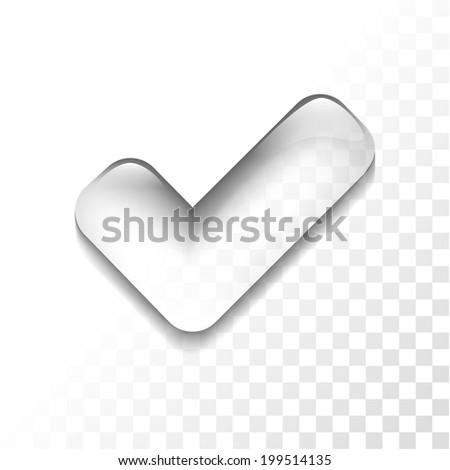 Transparent check mark icon - stock vector