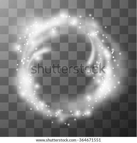 Transparent circle frame. Vector eps10. - stock vector