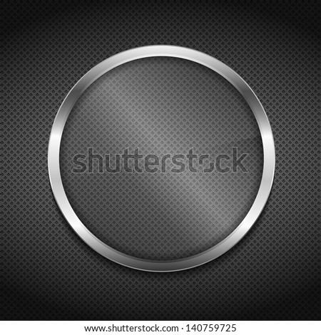 Transparent glass board on metal background, vector eps10 illustration - stock vector