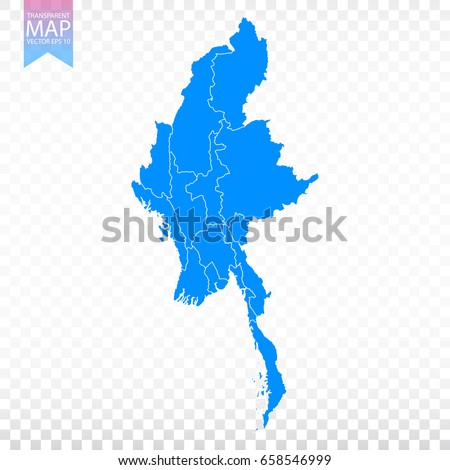 Myanmar map stock images royalty free images vectors shutterstock transparent high detailed blue map of myanmar vector illustration eps 10 gumiabroncs Gallery
