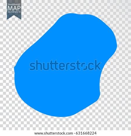Transparent High Detailed Blue Map Nauru Stock Vector - Nauru map vector