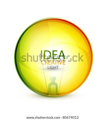 Transparent light bulb sphere background - stock vector