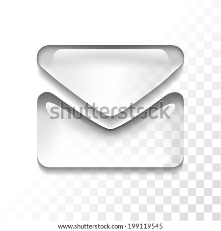 Transparent mail icon - stock vector