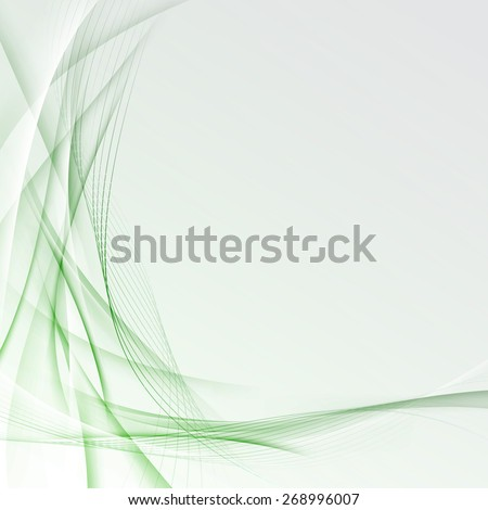 Transparent Modern Green Border Certificate. Vector Illustration