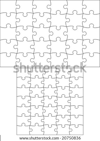 Transparent puzzle, useable on any picture. Vector. - stock vector