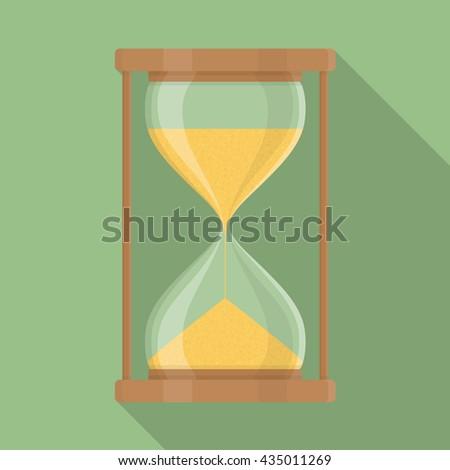 Sandglass icon  Transparent Hourglass Icon Sandglass Sandclock Flat Stock Vector ...