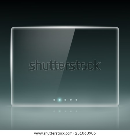 Transparent screen for slide show - stock vector