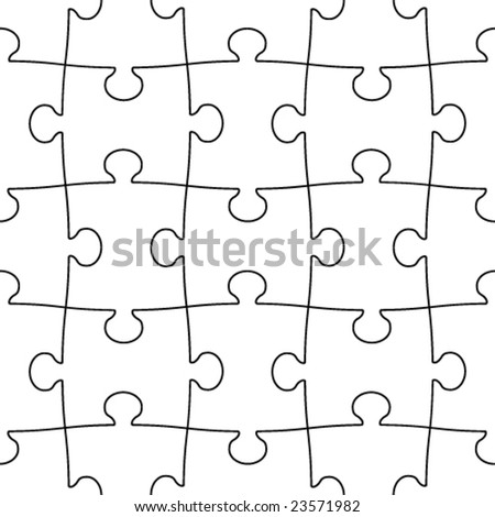 transparent seamless puzzle - stock vector