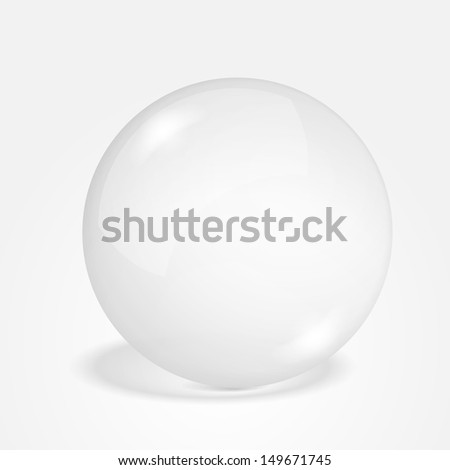 Transparent sphere on gray background, vector eps10 illustration - stock vector