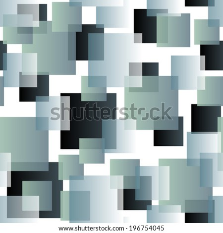 transparent tiles on white seamless pattern - stock vector