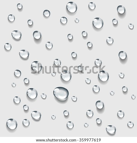Transparent water drop background vector - stock vector